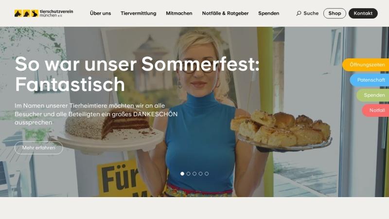 www.tierheim-muenchen.com Vorschau, Tierschutzverein München e.V.