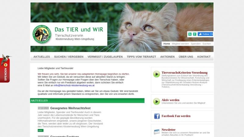 www.tierschutz-klosterneuburg-wu.at Vorschau, Tierschutzverein Klosterneuburg Wien Umgebung