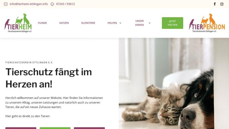 www.tierschutzverein-ettlingen.info Vorschau, Tierschutzverein Ettlingen e.V.