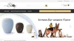 www.tierurnen24.de Vorschau, Shop für Tierurnen und Tiersärge sowie Zubehör