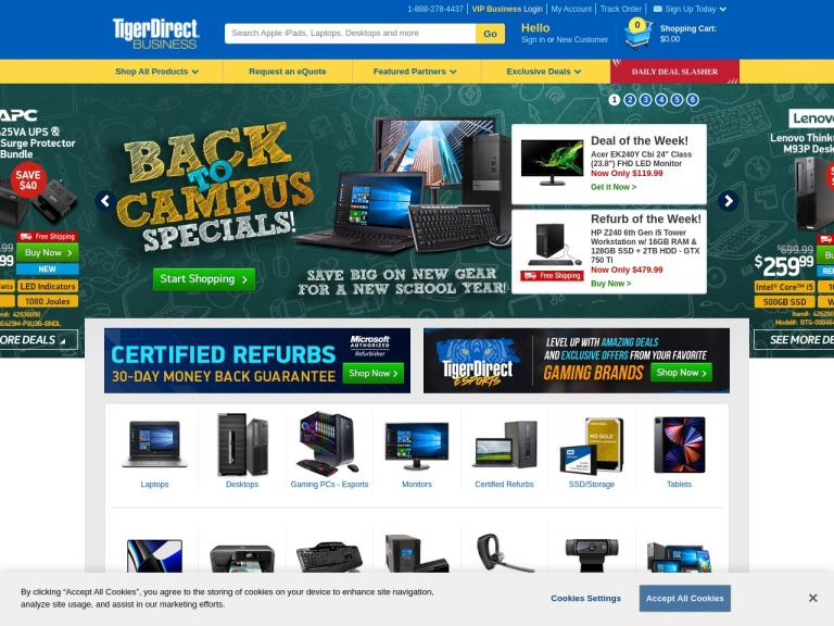 Tiger Direct screenshot