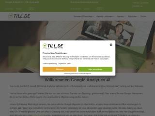 Screenshot der Website till.de