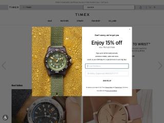 Captura de pantalla para timex.com