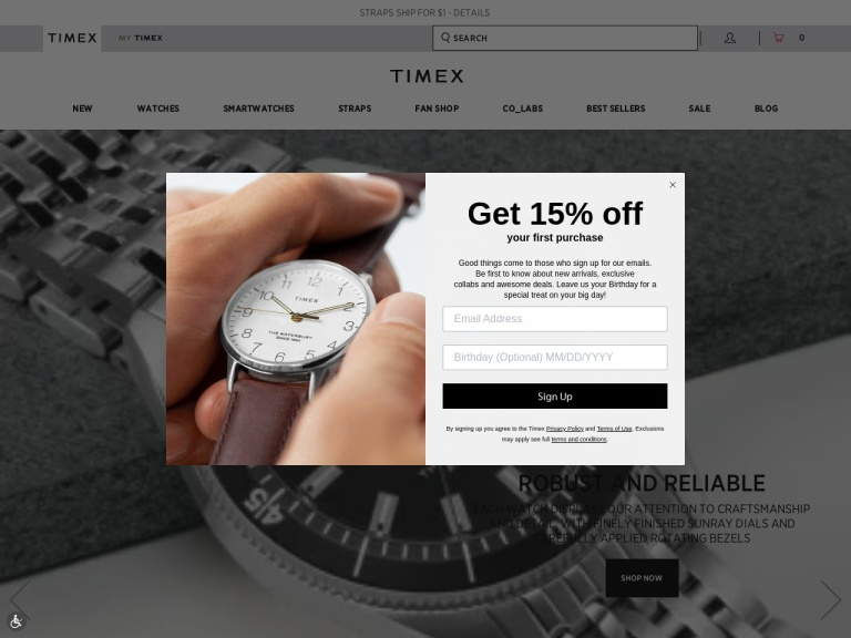 Timex screenshot