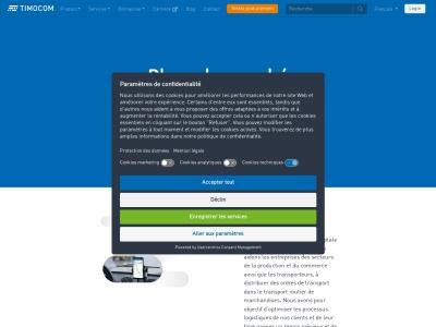 TimoCom : appels d'offres pour les professionnels du transport