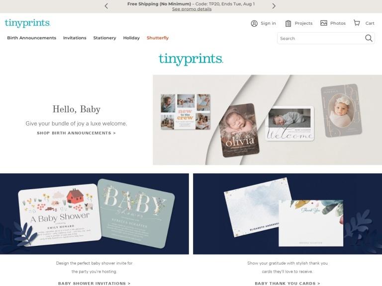 Tiny Prints & Wedding Paper Divas screenshot