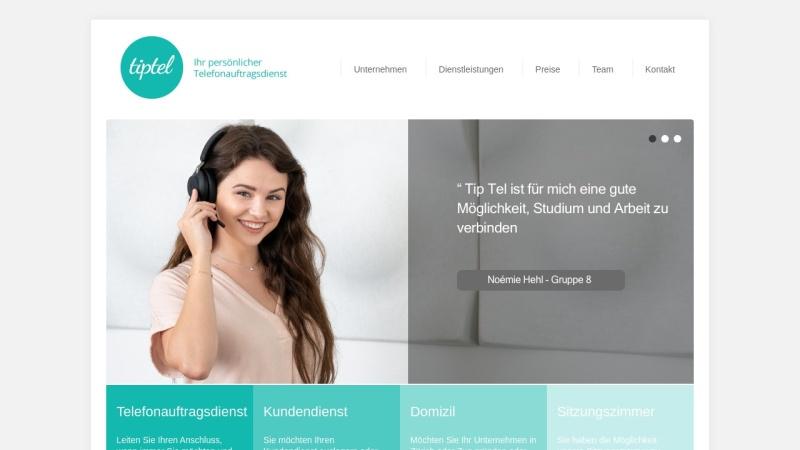 www.tiptel.ch Vorschau, TipTel Services, Claudia Capestro