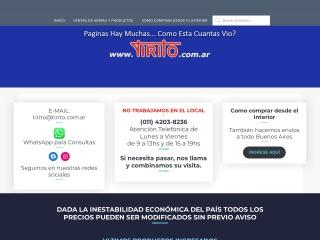 Captura de pantalla para tirito.com.ar