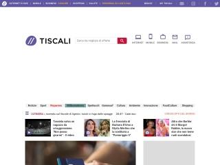 Screenshot del sito tiscali.it