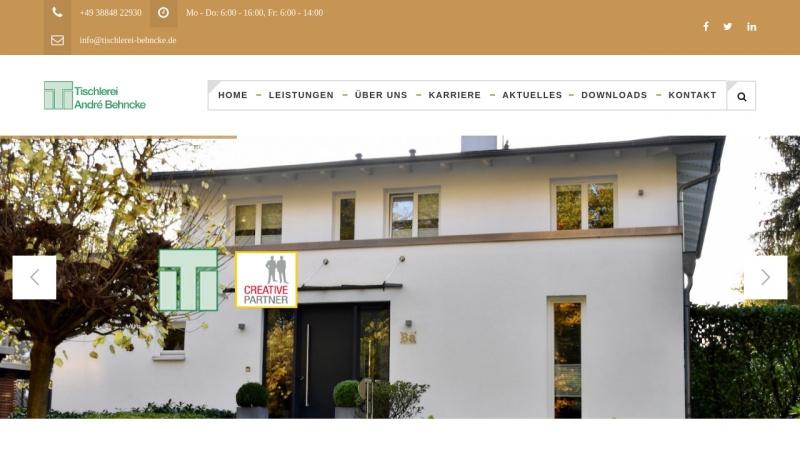 www.tischlerei-behncke.de Vorschau, Tischlerei André Behnke