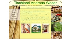www.tischlerei-treppenbau-weser.de Vorschau, Tischlerei Andreas Weser