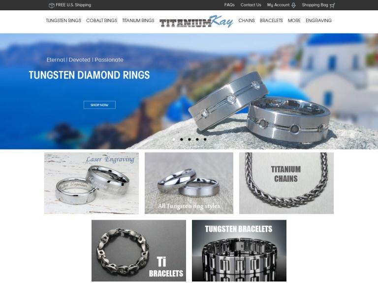 Men's Titanium & Tungsten Jewelry screenshot