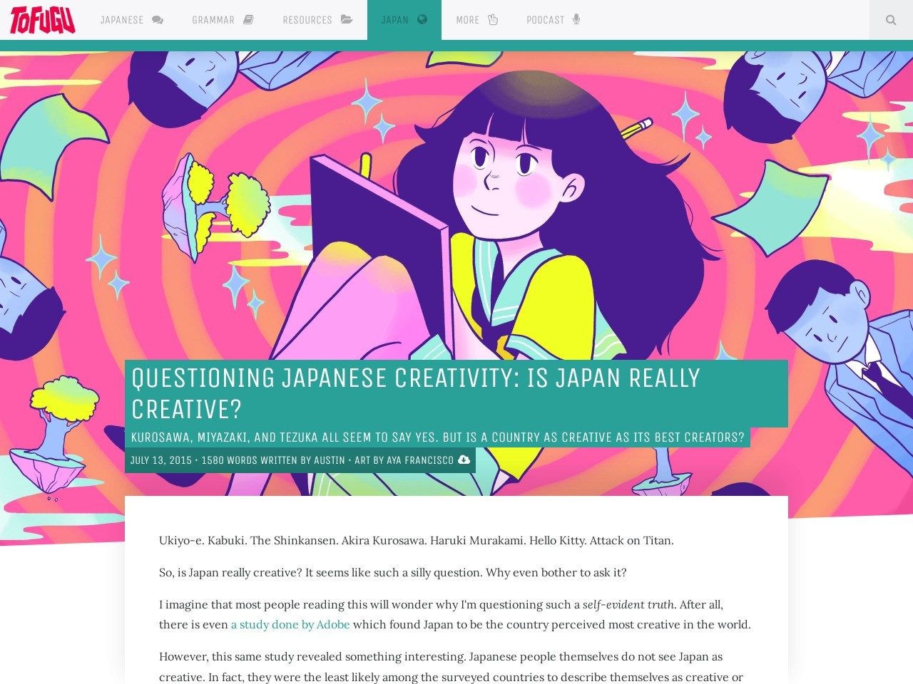 Questioning Japanese Creativity: Is Japan Creative? – Tofugu
