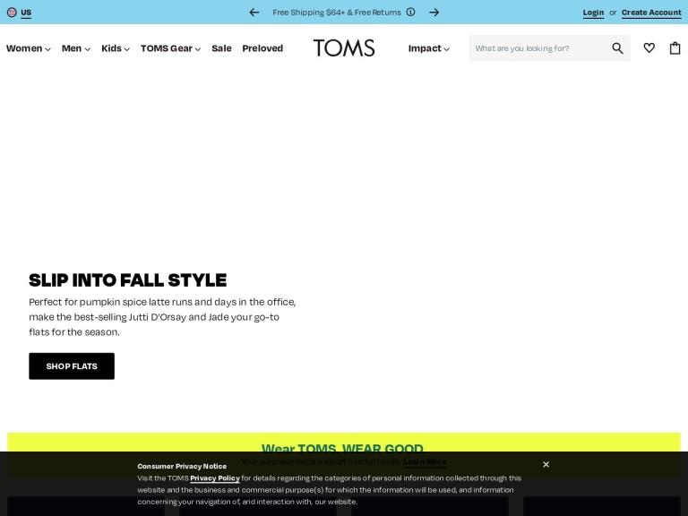 Toms Canada screenshot