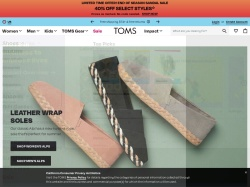 Toms Shoes screenshot