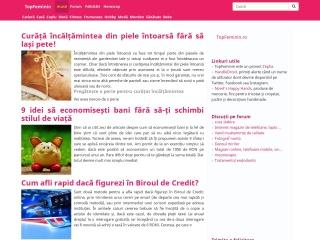 Screenshot al site-ului topfeminin.ro