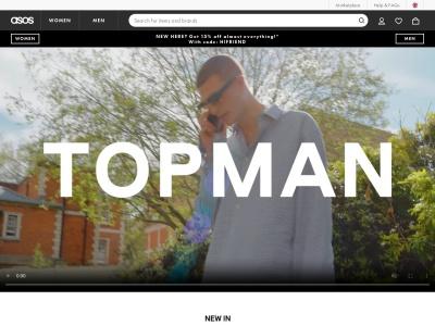 英國TOPMAN官網首頁