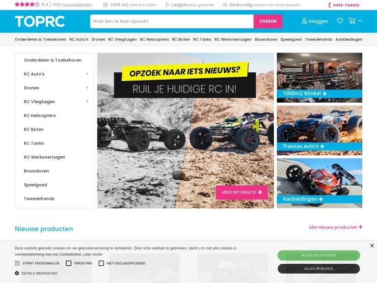Toprc.nl screenshot