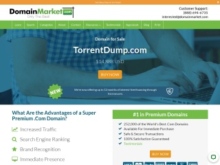 Screenshot for torrentdump.com