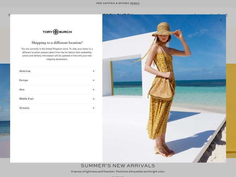 Tory Burch Uk screenshot