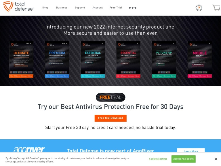 Total Defense Internet Security screenshot
