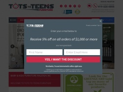Tots to Teens Furniture coupon codes August 2018
