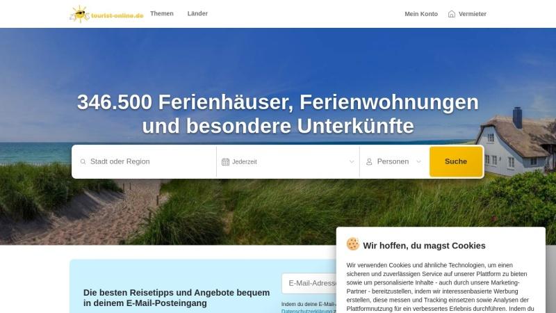 www.tourist-online.de Vorschau, Private Ferienhäuser oder Ferienwohnungen in Nordjütland.