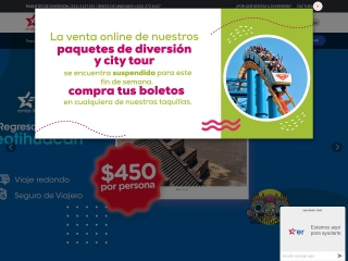 Captura de pantalla para tourister.com.mx