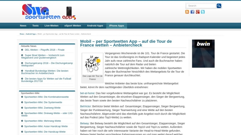 www.tourspiel.de Vorschau, Tippspiel zur Tour de France