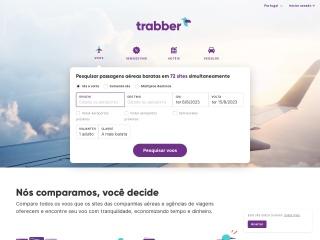 Screenshot do site trabber.pt
