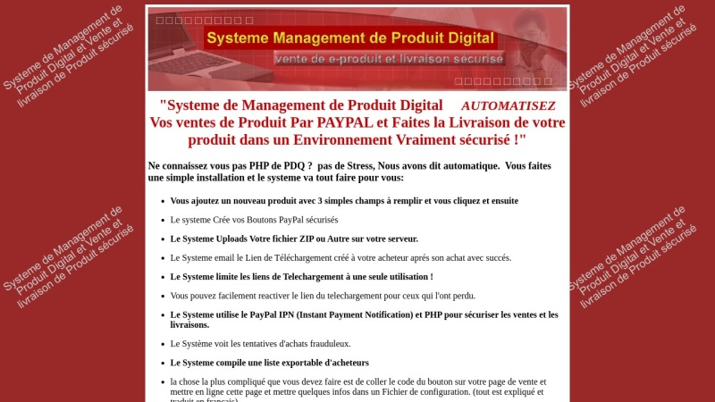systeme de management de produit digital avec mrr