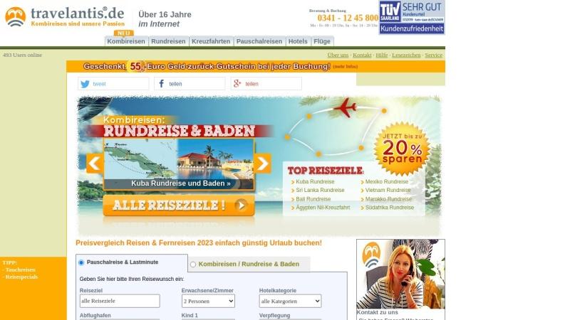 www.travelantis.de Vorschau, Travelantis