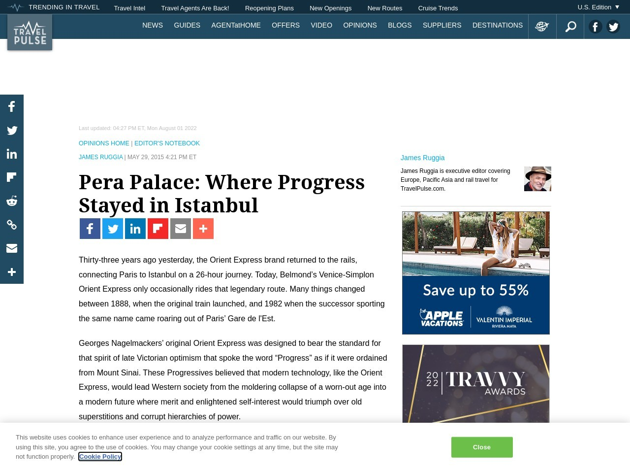 Pera Palace: Where Progress Stayed in Istanbul