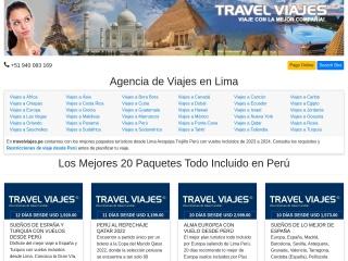 Captura de pantalla para travelviajes.pe