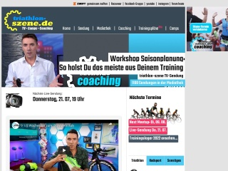 Screenshot der Website triathlon-szene.de