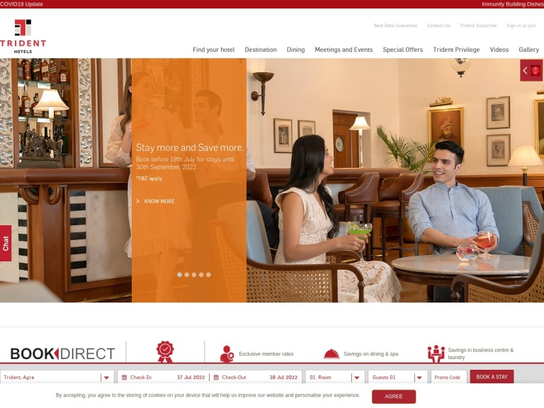 Trident Hotels screenshot