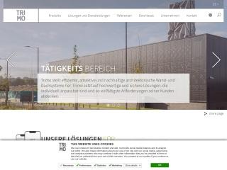 Screenshot der Website trimo.at