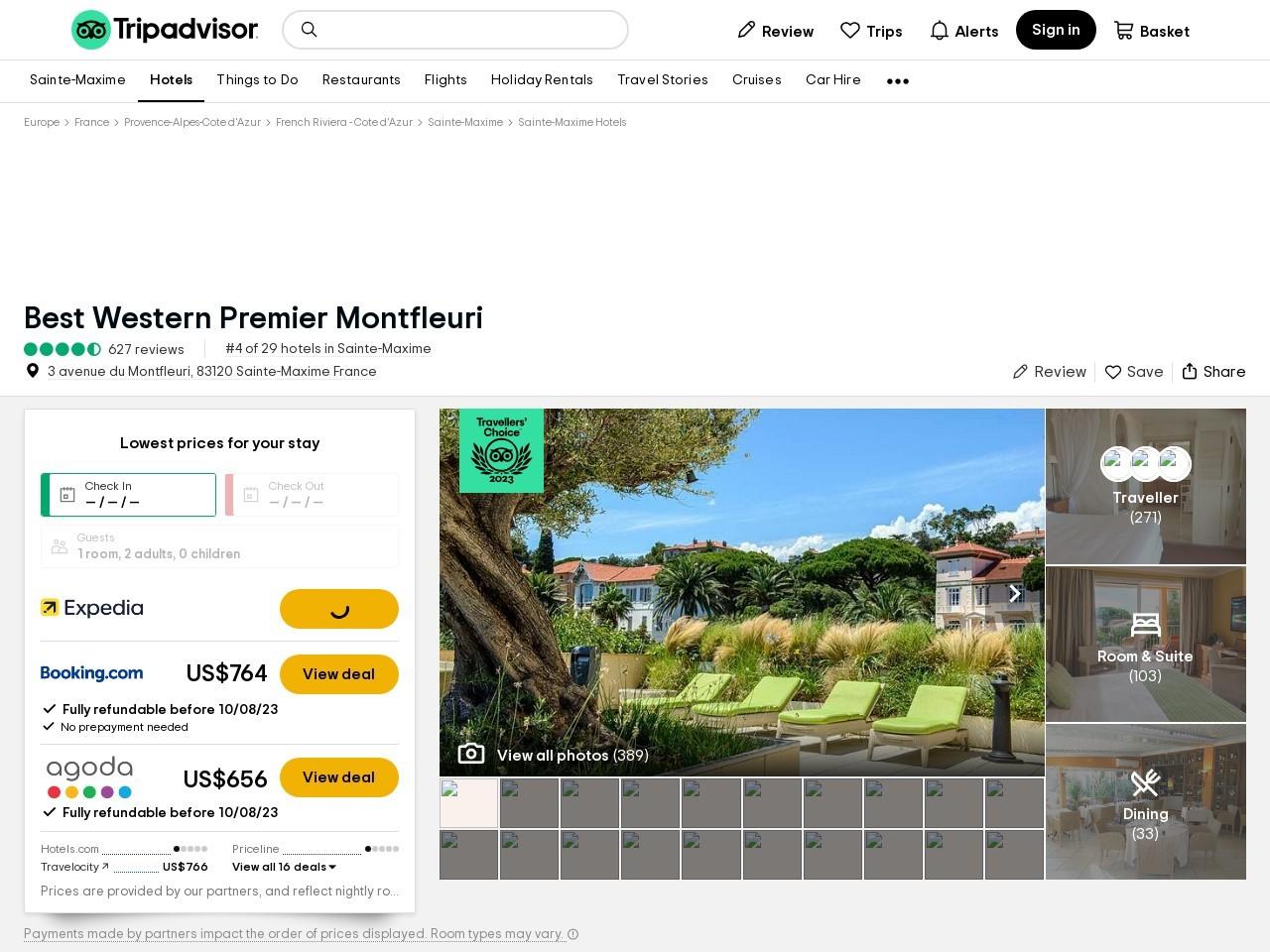 BEST WESTERN Hotel Montfleuri (Ste-Maxime, France) - Hotel Reviews ...