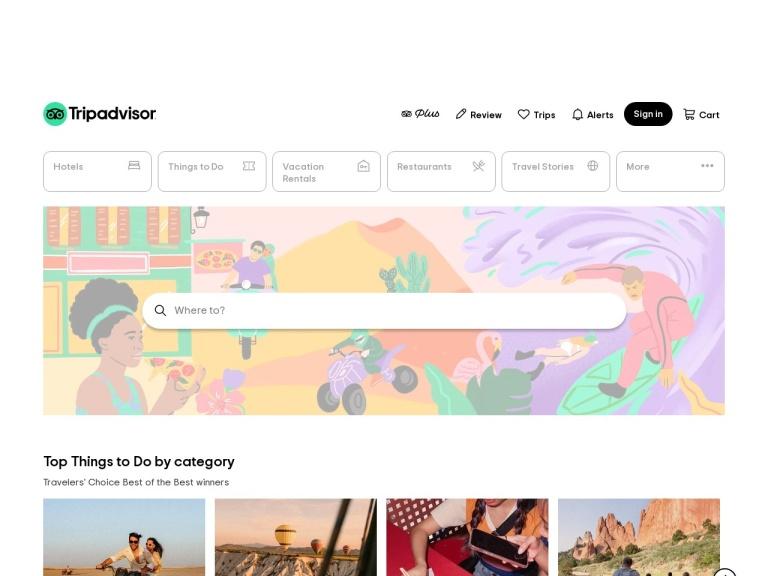 Tripadvisor Commerce Campaign screenshot