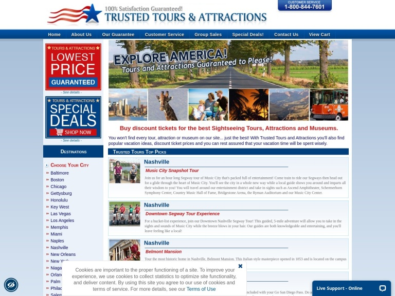 Trusted Tours And Attractions screenshot