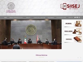 Captura de pantalla para tsjtlaxcala.gob.mx