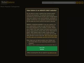 Screenshot do site tubegalore.com