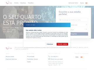 Screenshot do site tuiviagens.pt