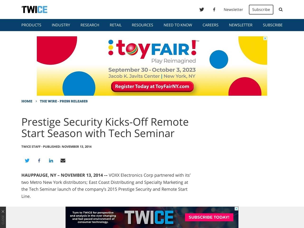 Prestige Security Kicks-Off Remote Start Season with Tech Seminar