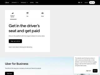 Screenshot for uber.com