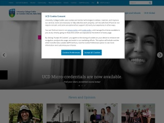 Screenshot for ucd.ie