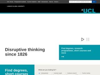 Screenshot for ucl.ac.uk