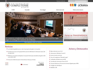 Captura de pantalla para ucm.es