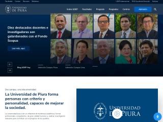 Captura de pantalla para udep.edu.pe