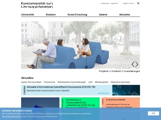Screenshot der Website ufg.ac.at